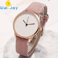 WJ-7917 Rose Gold Case White Face Leather Watches For Women Custom Logo Leather Handwatches Your Logo Wrist Watches