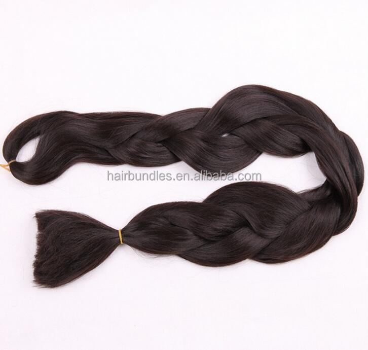 "Heat Retardant Synthetic Raw Material For African Braiding hairstyles Folded 41"" Unfolded 82"" 165g Super Jumbo Braids Hair"