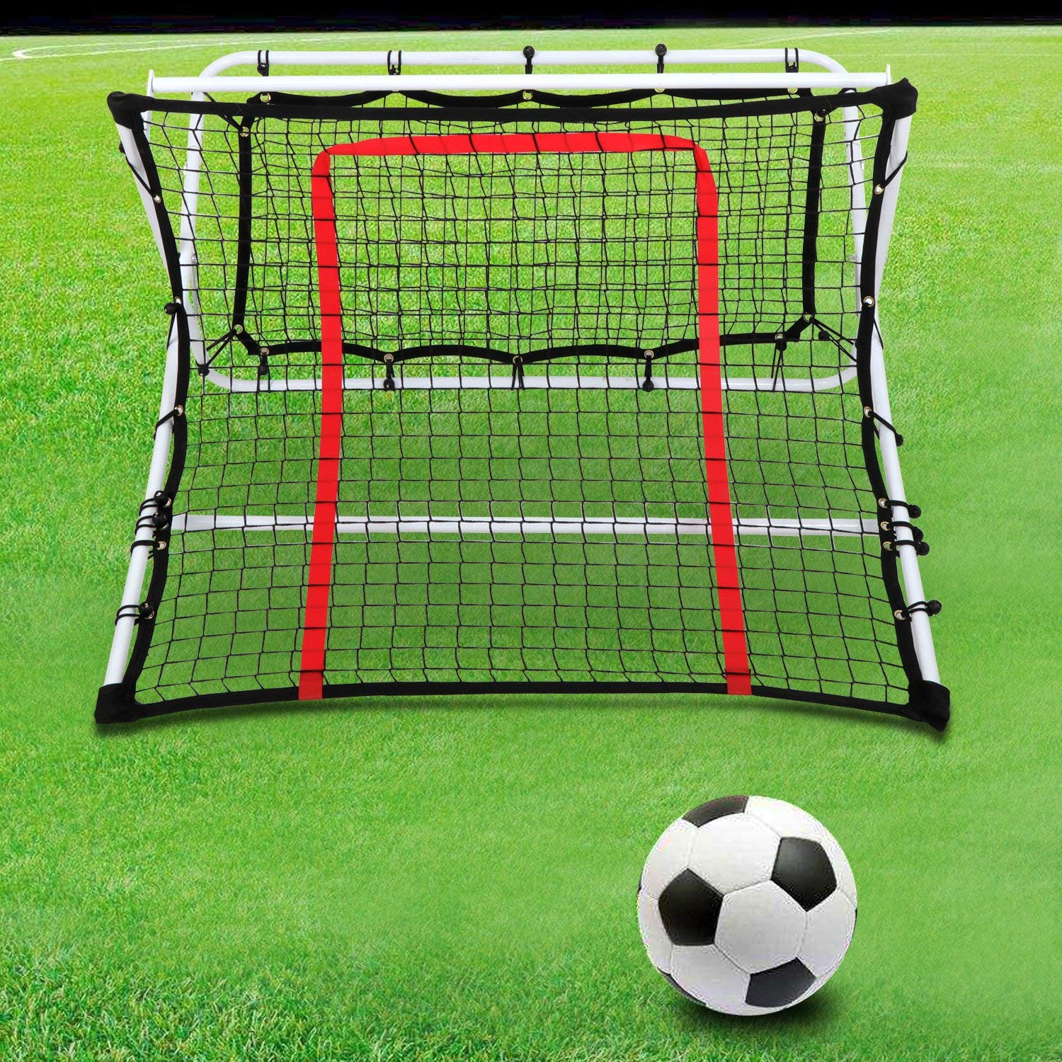 a0ad651af Get Quotations · Smartxchoices 2in1 X-Ramp Soccer Trainer Rebounder Net  Portable Soccer Goal Training Net Kids Adjustable