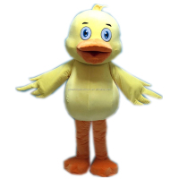 baby duck mascot costume for party adult yellow duck mascot costume