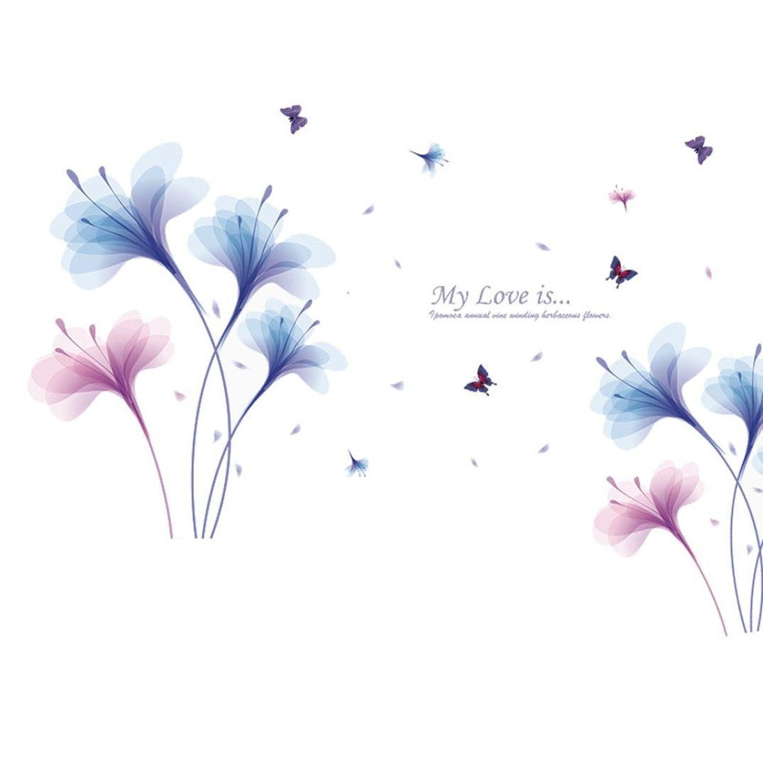 Rumas DIY Removable Wall Decal Family Home Orchid Sticker Mural Art Home Decor