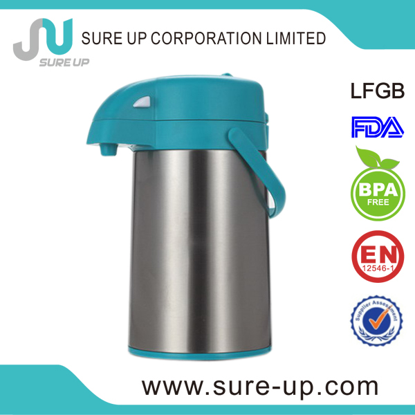 heat resistant vacuum flasks refills with press switch air pot(AGUM)