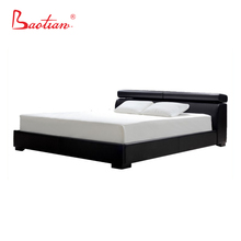 Modern double bed design with storage