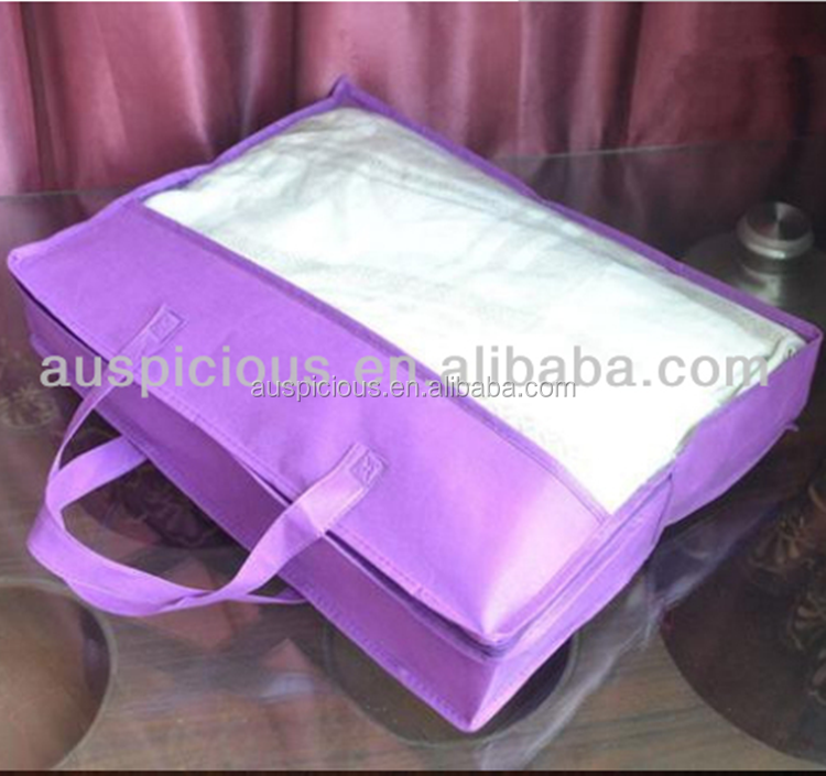OEM Customized PVC non woven plastic quilt storage bag wholesale