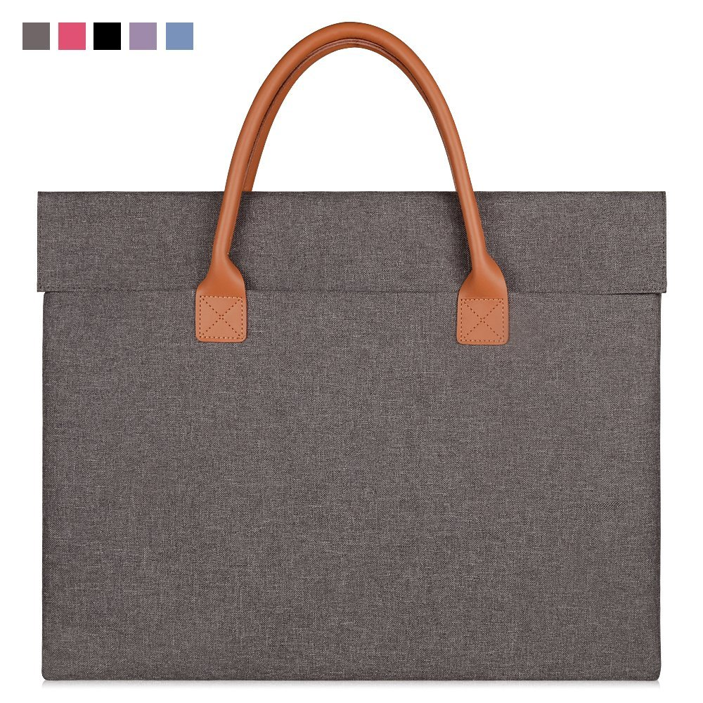 "Qishare 17inch 17.3 inch Universal Unisex Fashion Portable Oxford Fabric Laptop Carrying Case/ Briefcase for 17 - 17.3 Inch Lenovo/ Hp / Asus/ Toshiba/ Dell/ Acer (17"", Grey)"