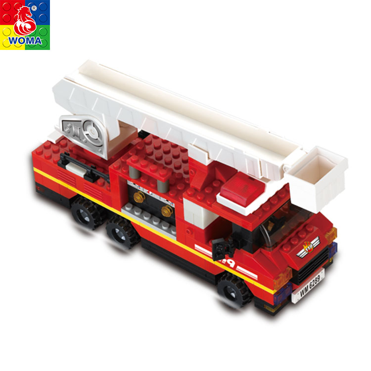 Educational Diy Fire Rescue Bricks Toys Truck Toy