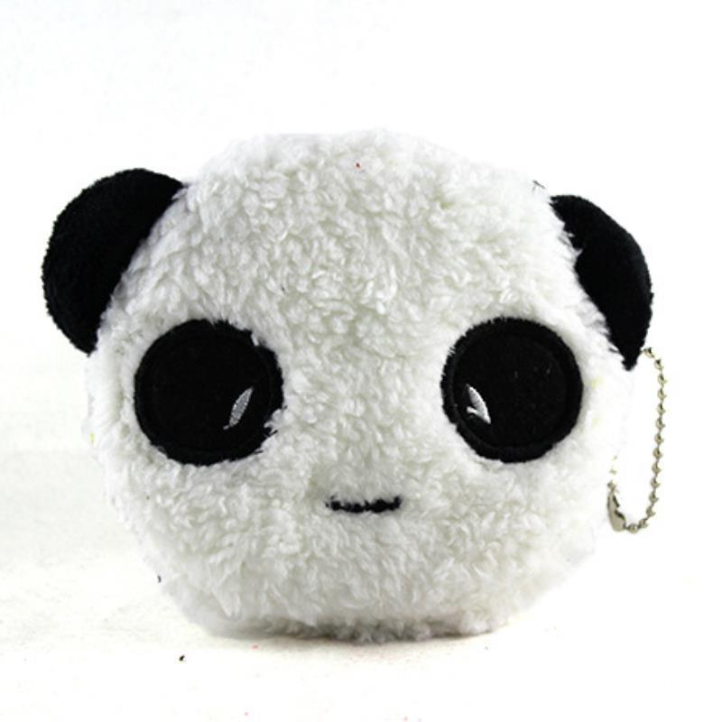 New Fashion 2015 Brand Design Casual Male models panda Circle soft corduroy zipper coin purse For Women Money Bags