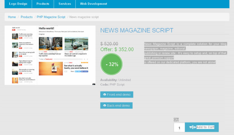 news portal script nulled io