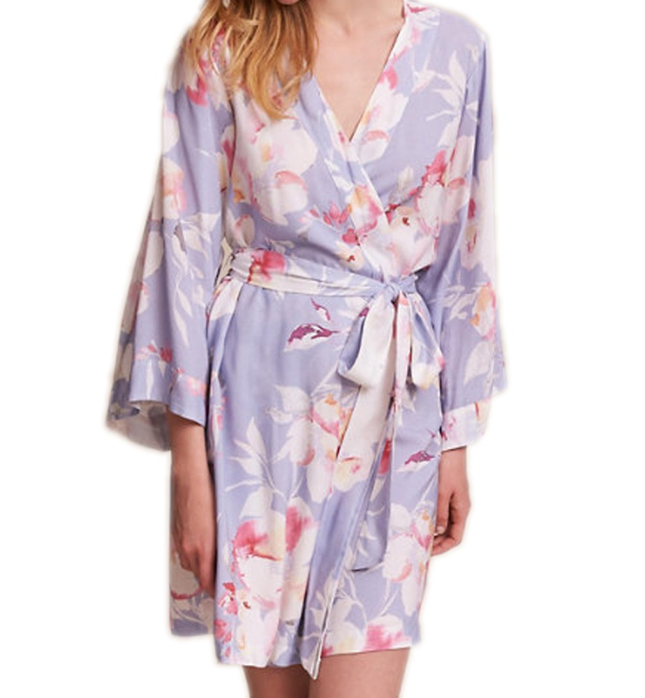 2018 Wholesale Custom Made Lady Sexy Sleepwear Women Casual Dressing Gown Women Floral Printed Robe