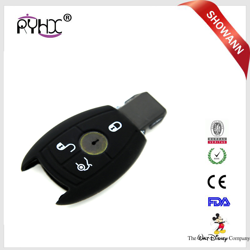 A Key To Start Red Car Remote Control Key Case Cover Fit For C,GLA,GLC,S Class