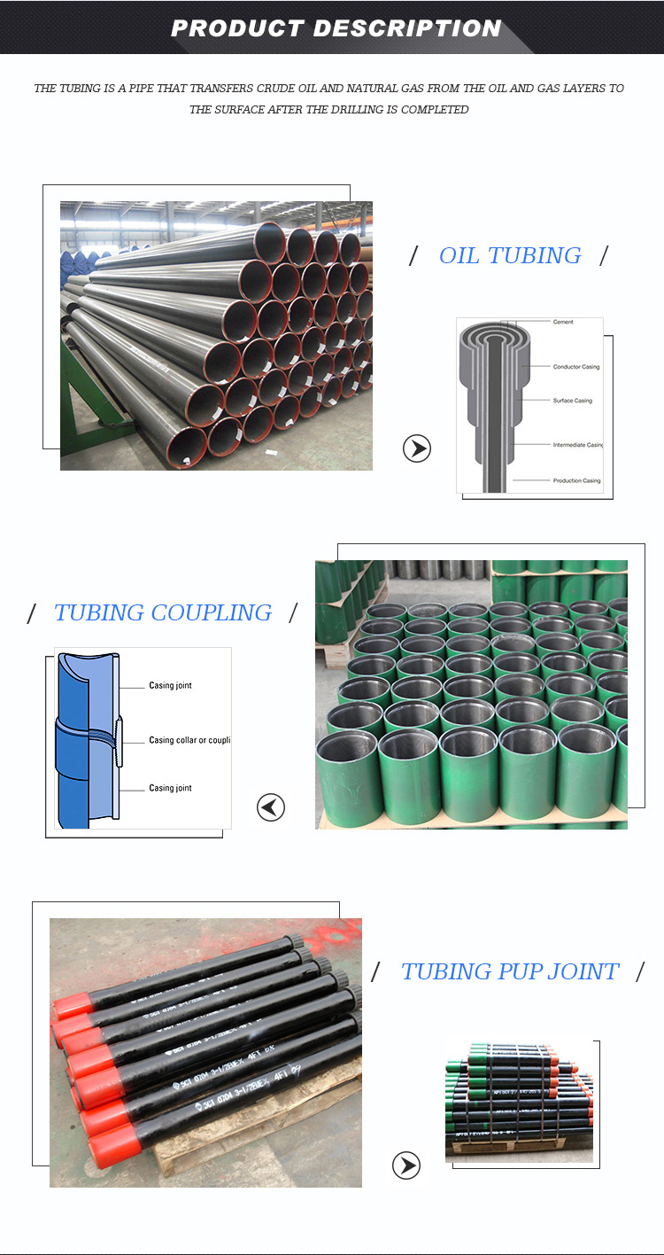 2 78 used oilfield casing pipe sizes 7 inch oil well tubing pipe