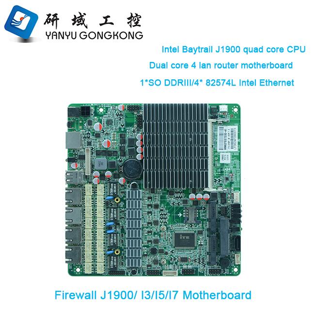 1u Firewall Board Intel J1900 Pfsense Network Security Mini Desktop  Computer Board For 4 Ethernet Ports - Buy Computer Board,Desktop Computer  Board,1u