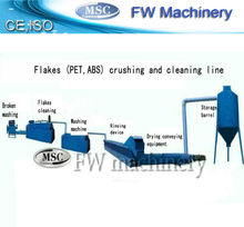 Plastic flakes recycling equipment / pet bottle flakes recycled plant / plastic bottle crushing washing drying recycling line