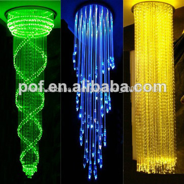 Plastique optial led lustre en fibre optique led vitrine avec des boules de cristal d coration - Lustre en gobelet plastique ...