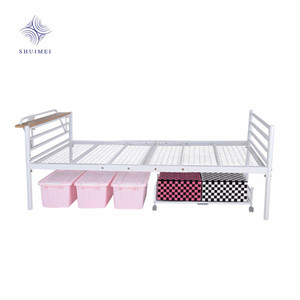 Metal Bed Frame Single Size Iron Mesh bed Base Bed Headboard With Socket