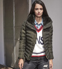 Ladies Winter Padded Jacket Wholesale Customized Quilted Jacket with fur collar