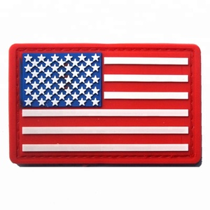 China wholesale US flag 3D custom tactical pvc patch