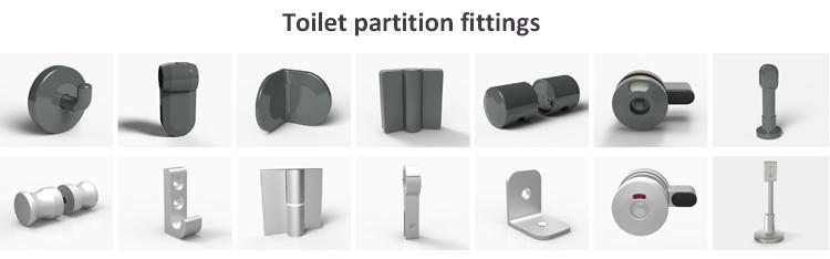 Cubilox Manufacturer Aluminum6063  HPL Toilet Cubicle Fitting Accessories Set  Toilet Partition Hardware