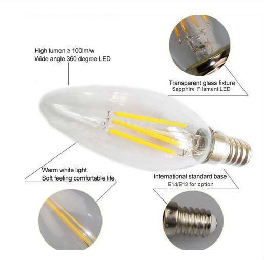 Led Bulb Parts C35 Hidden Camera Light Bulb
