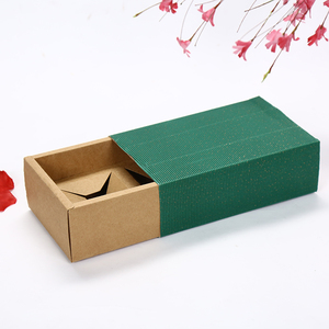 color e-flute sleeve with foldable drawer +diecut inner tray paper tea packaging box
