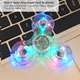 High quality digit spinner Stress Fidget Toys Metal Bearing Hand 3d transparent vision spinner 3 tri-spinner