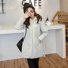 New 2016 Women Down Coat font b Winter b font Fashion Fur Lining Hood Coat Plus
