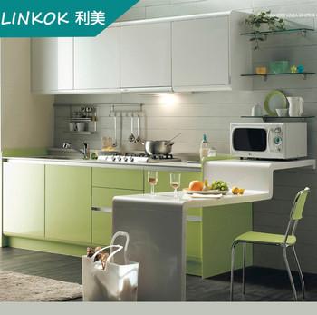 Apartemen Kecil Desain Sederhana Hijau Lemari Dapur Untuk Dijual