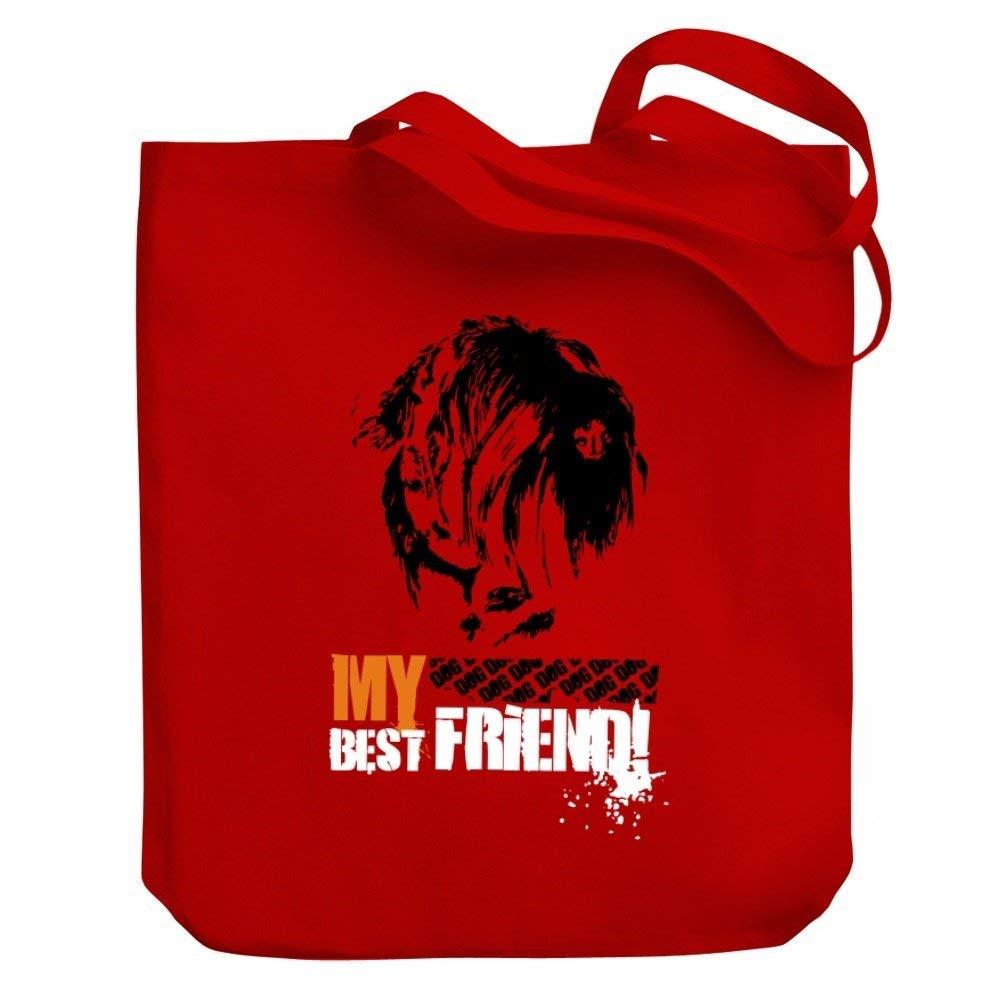 Teeburon Black Russian Terrier MY BEST FRIEND URBAN STYLE Canvas Tote Bag