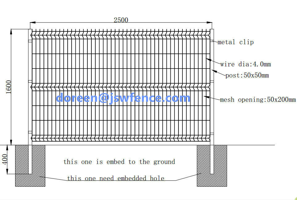 Cheap Welded Wire Mesh Curved Fence High Security Fence