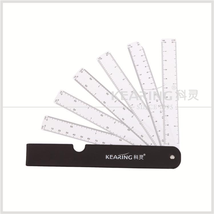 Foldable Fan Shaped Plastic Ruler For Graphics Design Multi Ratio Measure Scale