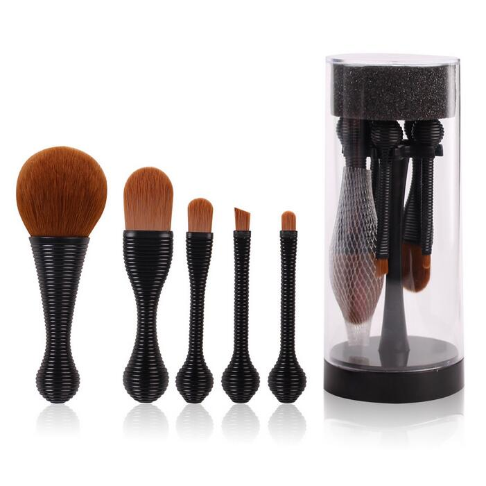 New Style Lolipop Makeup Brush 5 pcs Amazon Cosmetic Tools Hot Seller Makeup Brush Set