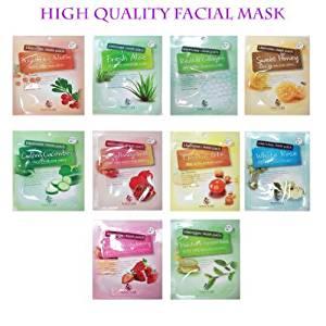 Naisture 15 Min. Collagen Essence Facial Mask Sheet Pack -10kinds 1set by yoonji