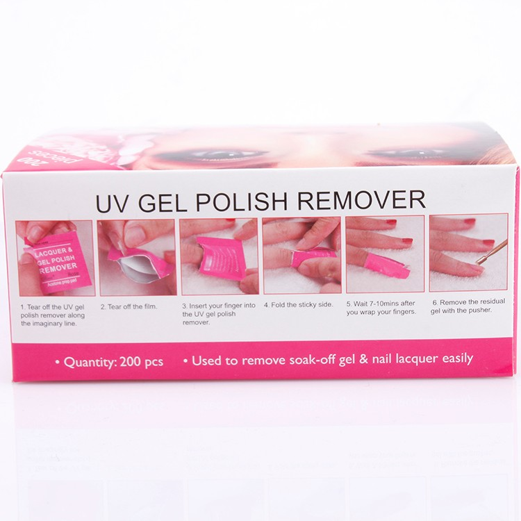 Pad Form color gel nail polish remover wraps