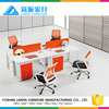 chinese office furniture workstations system for melamine 4 seats staff desk