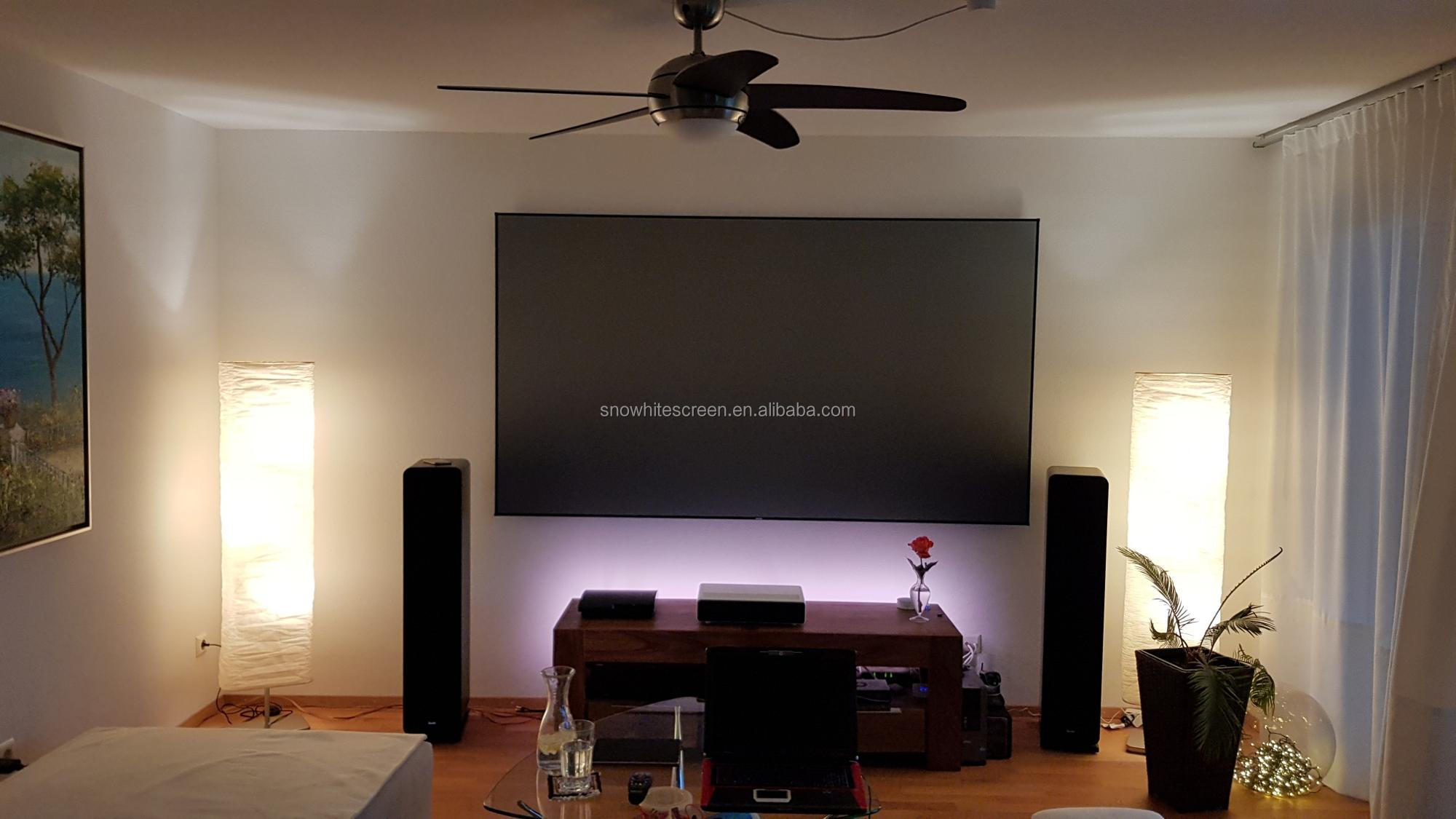 "SNOWHITE 120 "" 16:9 Format alr ust ultra short throw projector screen"