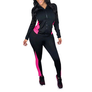 81129-MX13 two piece set women clothing tights leggings jogging jumpsuit
