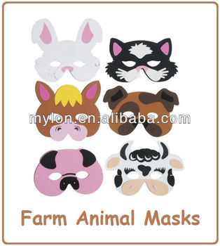 Farm Animal Face Eye Masks Fancy Dress Eva Foam Kids Boys Girls Adults  Party Bag - Buy Farm Animal Face Eye Masks Fancy Dress Eva Foam Kids Boys  Girls