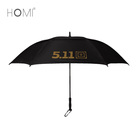 Wind Vented Double Canopy Golden Coated Golf Umbrella with Auto Open Rubber Handle