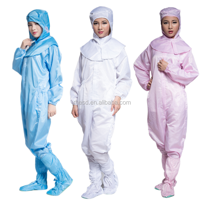 reusable cleanroom coveralls Overall Esd Smock Clothing Cleanroom Suit Clothes Antistatic safety clothing Coverall - KingCare | KingCare.net