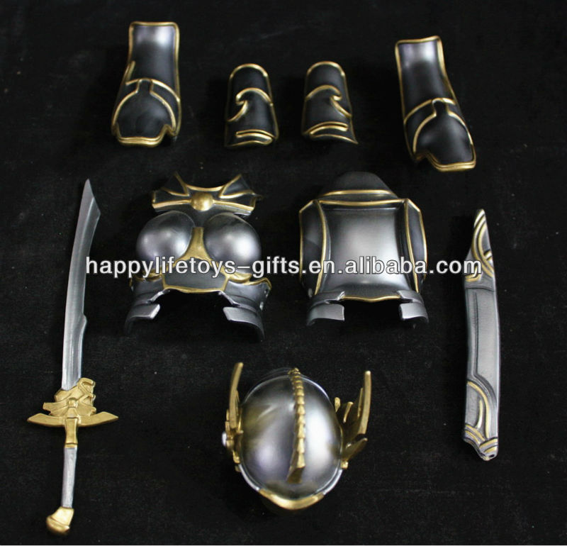 Custom Colorful Miniature Metal Sword and Armour Accessories