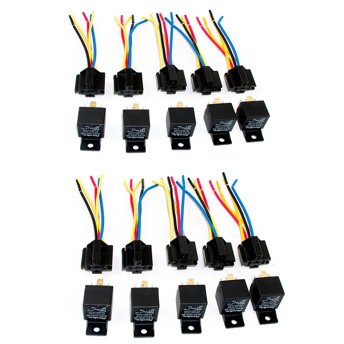 Cheap Automotive Relay Spdt Find Deals On This Product Under 40a 12v Dc Hid Fuse Wire Wiring Harness Get Quotations Bestcompu Lot10 New 12volt 30 40 Amp With Wires Socket