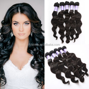 9A grade loose wave 100 virgin human hair extension natural color remy malaysian hair 5 pieces/lot