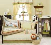 European Style Cotton Crib Baby Bedding Set Selected quality girl crib colorful bedding set sexy