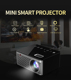 Touch key design,easy to control T200 Mini Smart LED Projector Touch Control HDMI USB AV Support Video Game Projector