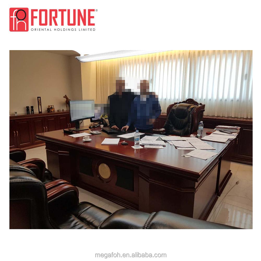 Office Furniture Mahogany Color Boss