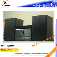 Christmas promotion hifi audio system with Karaoke, AUX and SD card