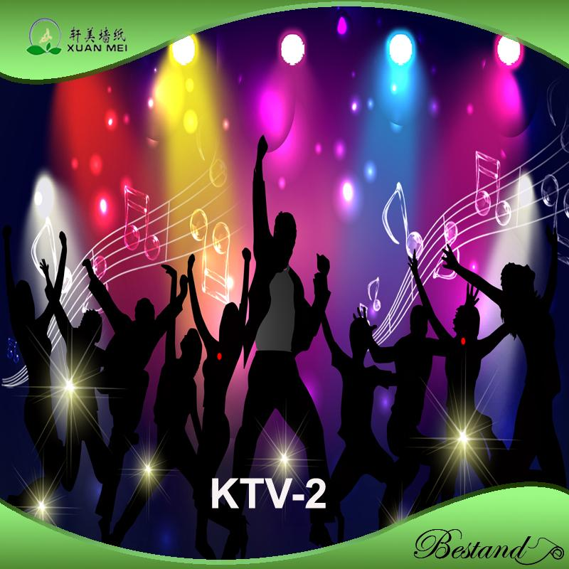 NightClub /KTV /Bar PVC Wallpaper Customized Fashional Design Murals