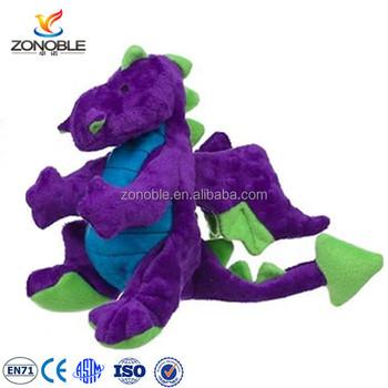 New Stuffed Purple Dragon Fashion Cute Stuffed Animal Dinosaur Plush