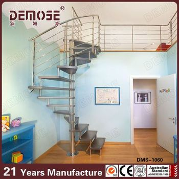 Steel Wood Round Small Space Stairs/staircases Design For Sale