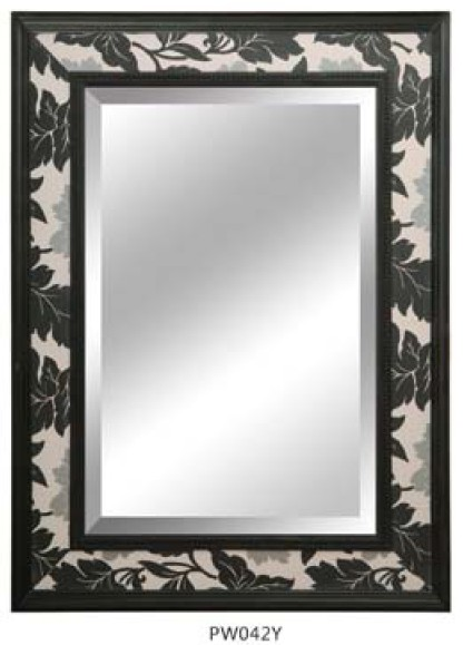 Hand Carved Wood Antique Mirror Frames With 1 Inch Bevelled Mirror ...